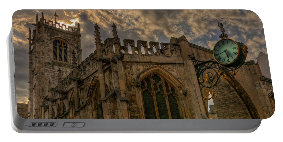 St Portable Battery Charger featuring the photograph St Martin Coney Street In York by Pablo Lopez