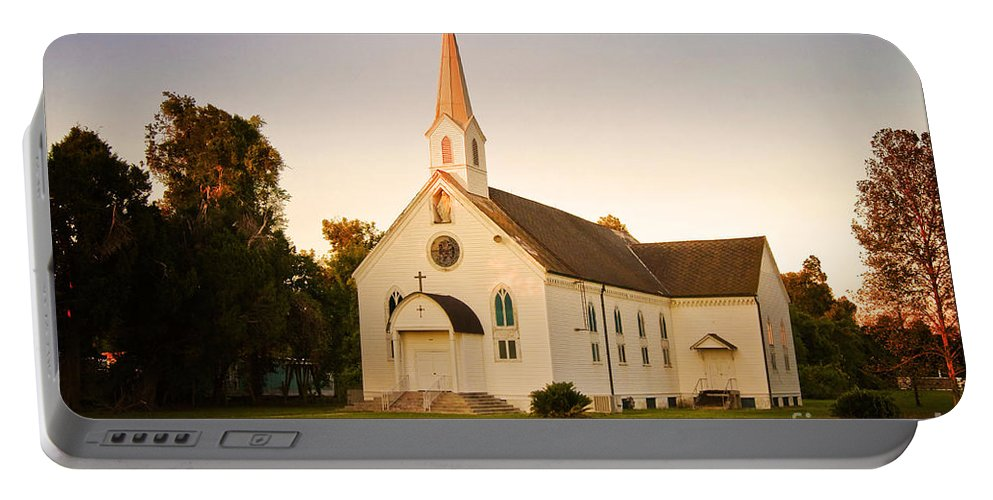 Convent Portable Battery Charger featuring the photograph St. Mary's Chapel by Scott Pellegrin
