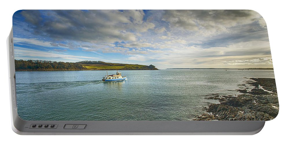 Cornwall Canvas Cornwall Prints Portable Battery Charger featuring the photograph St Mawes Ferry Duchess Of Cornwall by Chris Thaxter