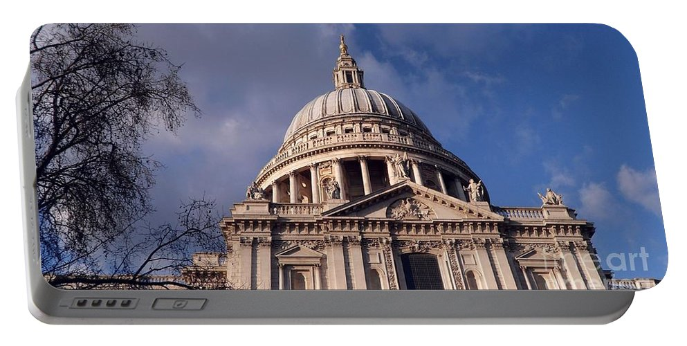 Saint Portable Battery Charger featuring the digital art St Paul's Cathedral by David Voutsinas