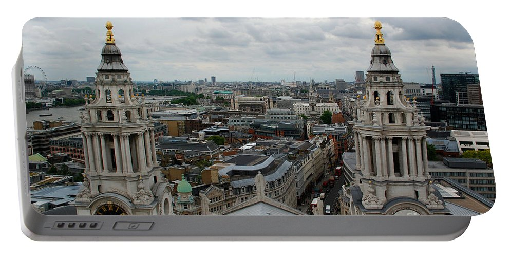 St Paul's Cathedral London Portable Battery Charger featuring the photograph St Paul's View by Richard Gibb