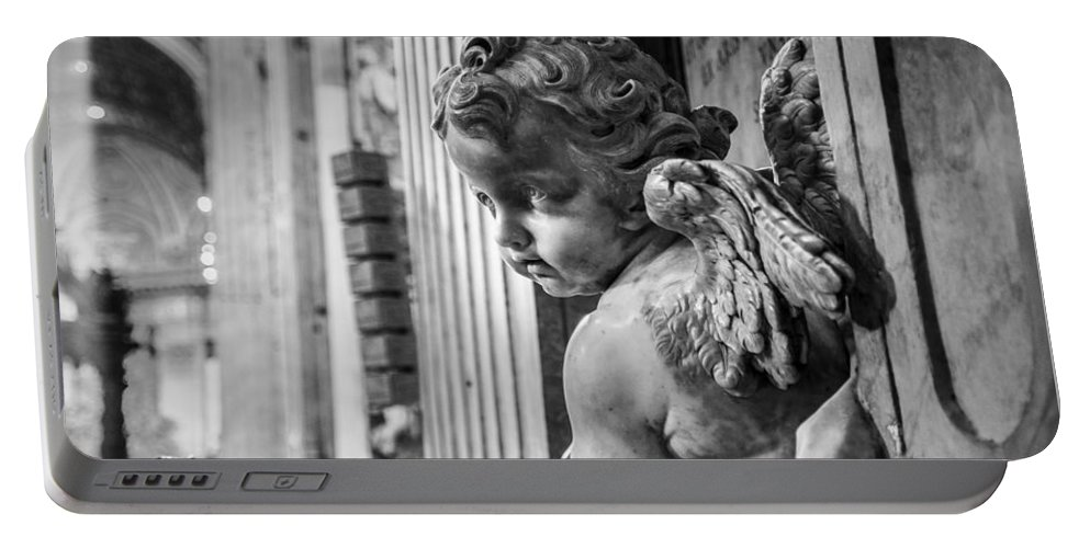 St. Peter's Portable Battery Charger featuring the photograph St. Peter's Angel by F Icarus