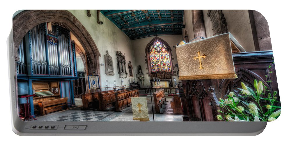 Arch Portable Battery Charger featuring the photograph St Peter's Church by Adrian Evans