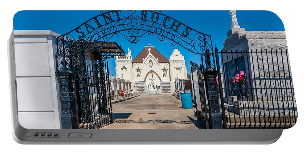 Cemetery Portable Battery Charger featuring the photograph St Roch's Cemetery by Steve Harrington