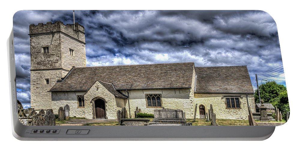 St Sannans Church Portable Battery Charger featuring the photograph St Sannans Church Bedwellty 3 by Steve Purnell