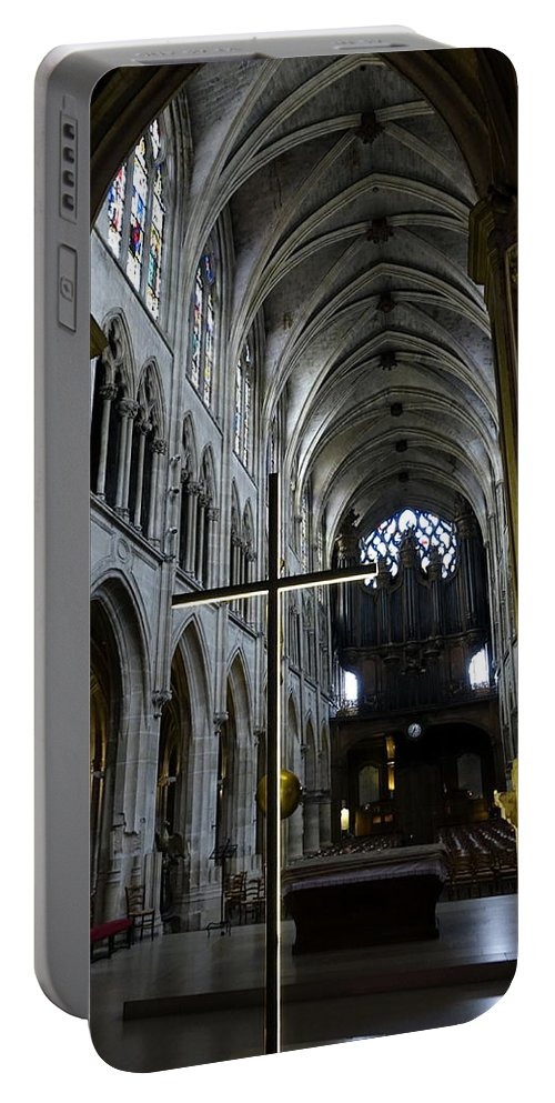 Paris Portable Battery Charger featuring the photograph St. Severin Church In Paris France by Richard Rosenshein