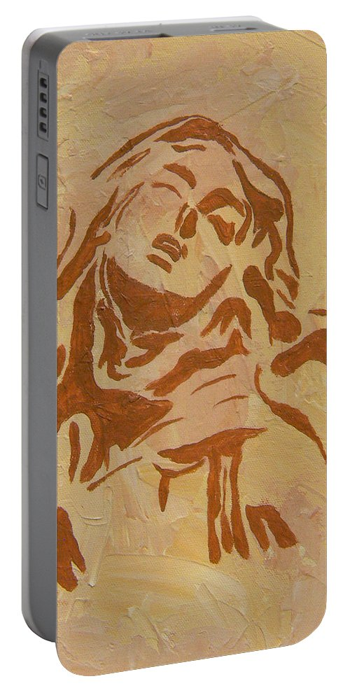 St Teresa Portable Battery Charger featuring the painting St Teresa by Josie Tokarski