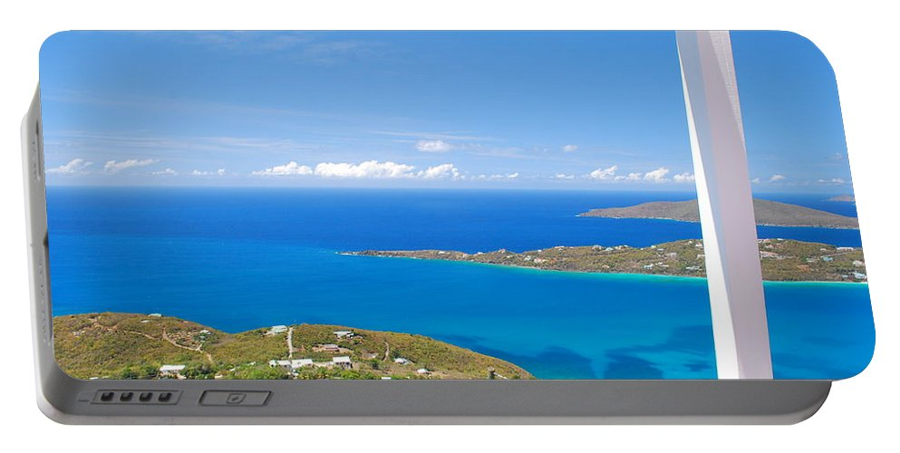 Saint Portable Battery Charger featuring the photograph St. Thomas by Gary Wonning