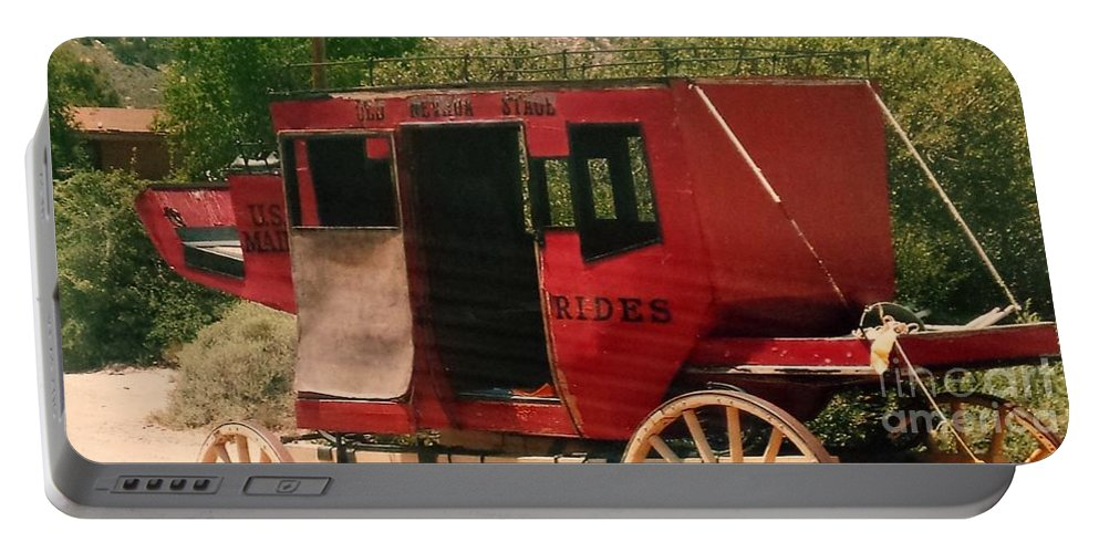 Nevada Portable Battery Charger featuring the photograph Stage Coach by Lisa Byrne