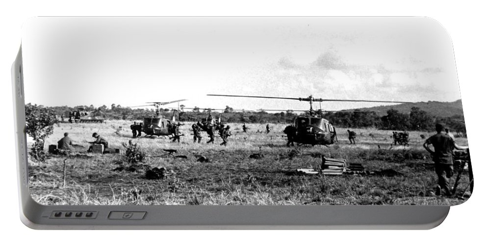 Vietnam Portable Battery Charger featuring the photograph Staging by Norman Johnson