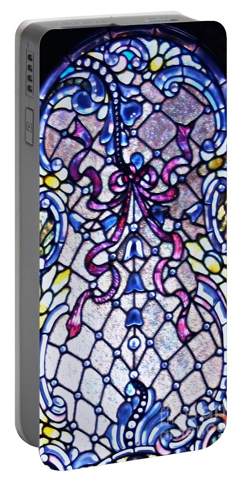 Stained Portable Battery Charger featuring the photograph Stained Glass Window by Kathleen Struckle