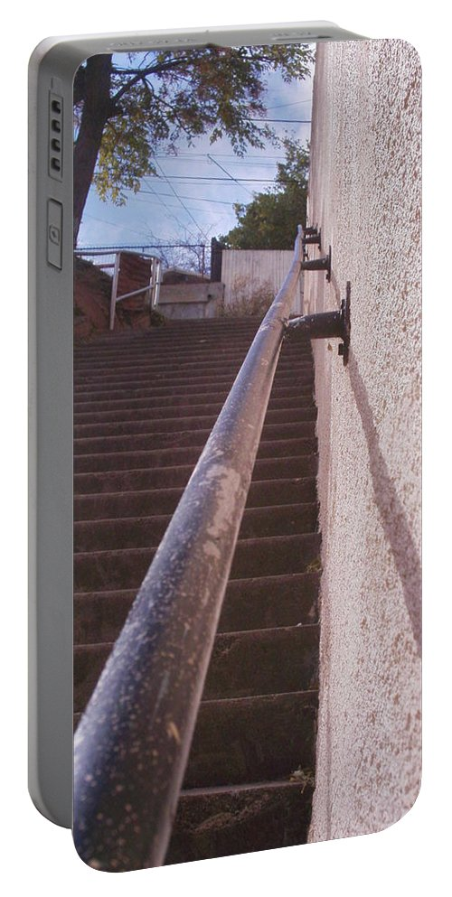 Bisbee Portable Battery Charger featuring the photograph Stairs by David S Reynolds