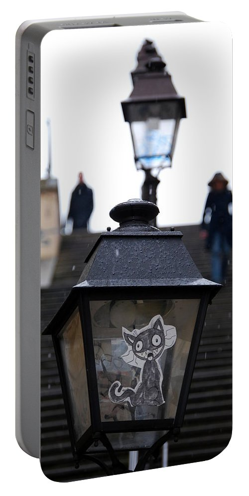 Portable Battery Charger featuring the photograph Stairs To Sacre Coeur2 by Riad Belhimer
