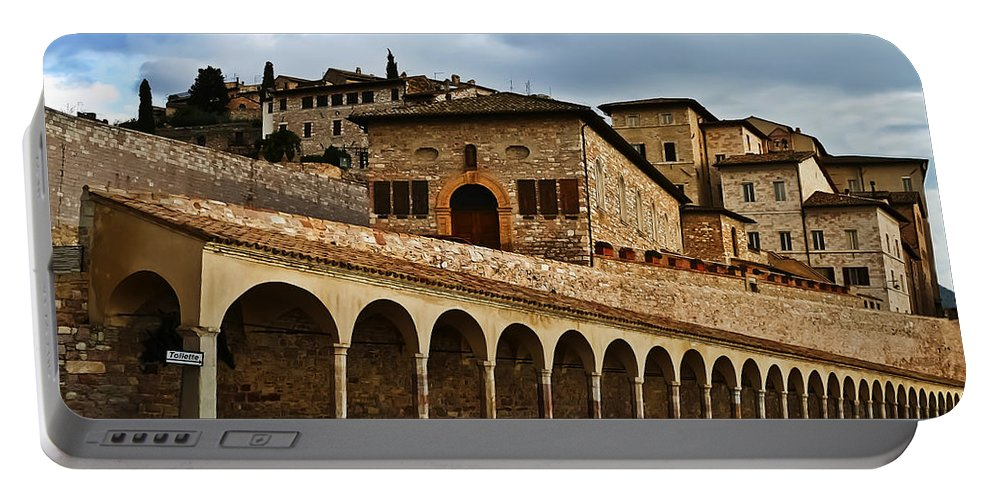 Travel Portable Battery Charger featuring the photograph Stairway To Assissi by Elvis Vaughn