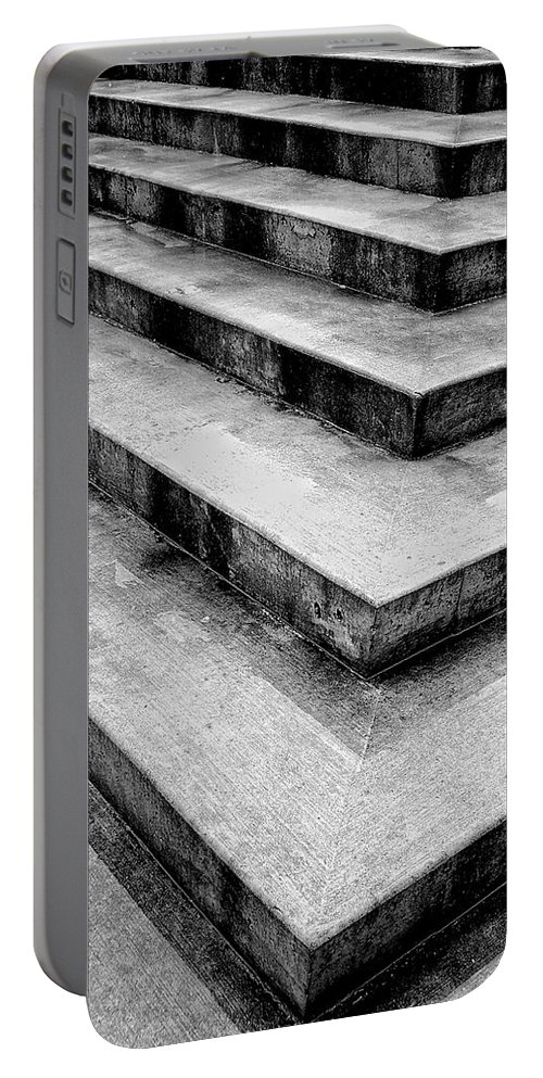 Concrete Portable Battery Charger featuring the photograph Stairway To Nowhere by Donna Blackhall