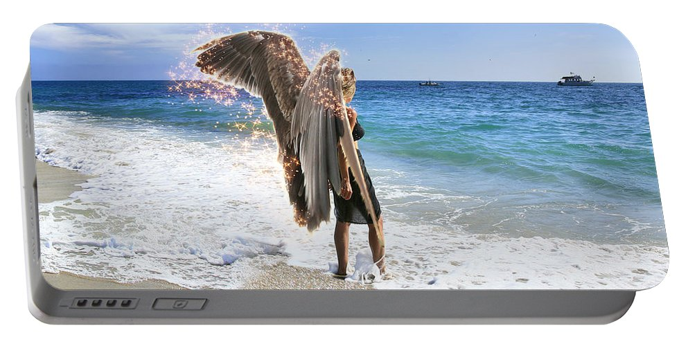 Angel Portable Battery Charger featuring the photograph Stand Your Ground I Am With You by Acropolis De Versailles