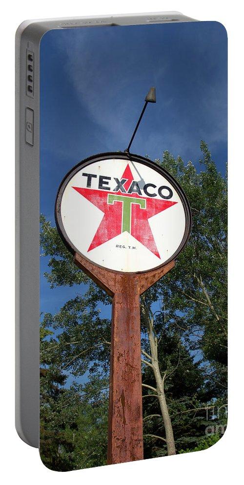 Sign Portable Battery Charger featuring the photograph Standing Tall by Ann Horn