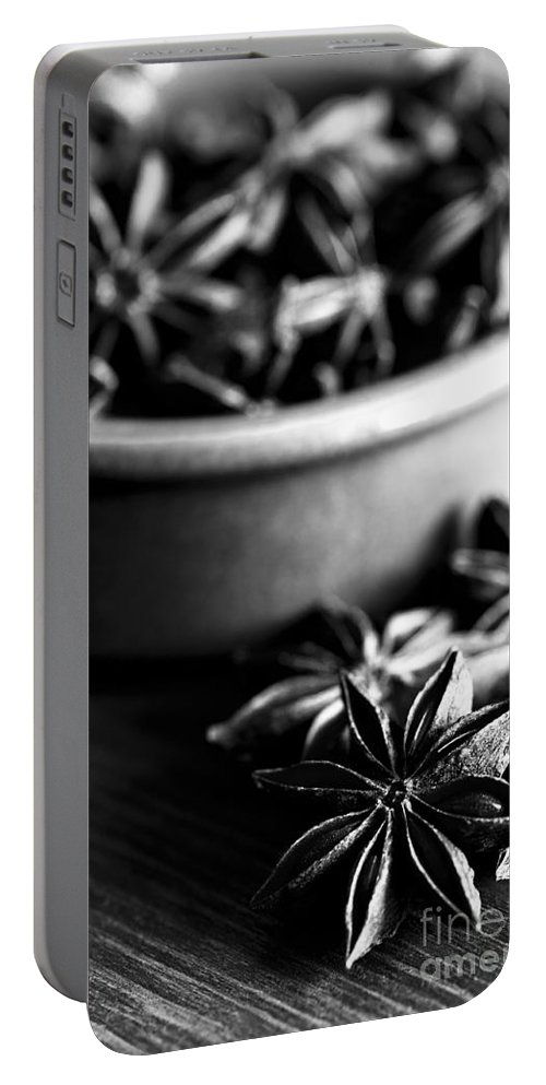 Annegilbert Portable Battery Charger featuring the photograph Star Anise Dish by Anne Gilbert