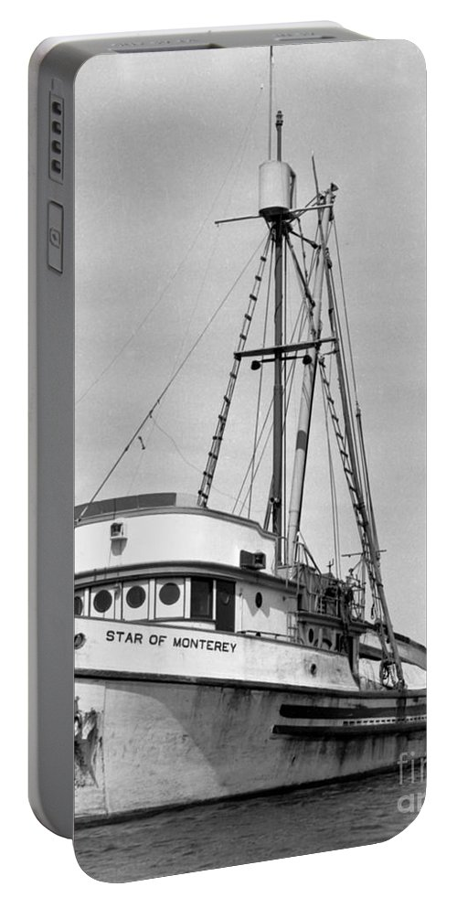 Monterey Harbor Portable Battery Charger featuring the photograph Star Of Monterey In Monterey Harbor Circa 1948 by California Views Mr Pat Hathaway Archives