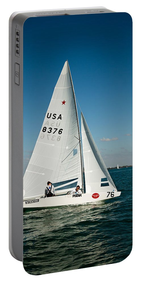 Waiting Room Portable Battery Charger featuring the photograph Star Sailboat by David Smith
