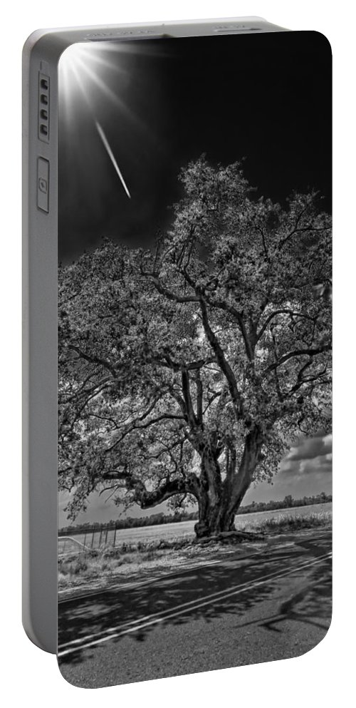 New Orleans Portable Battery Charger featuring the photograph Stardom Bw by Steve Harrington