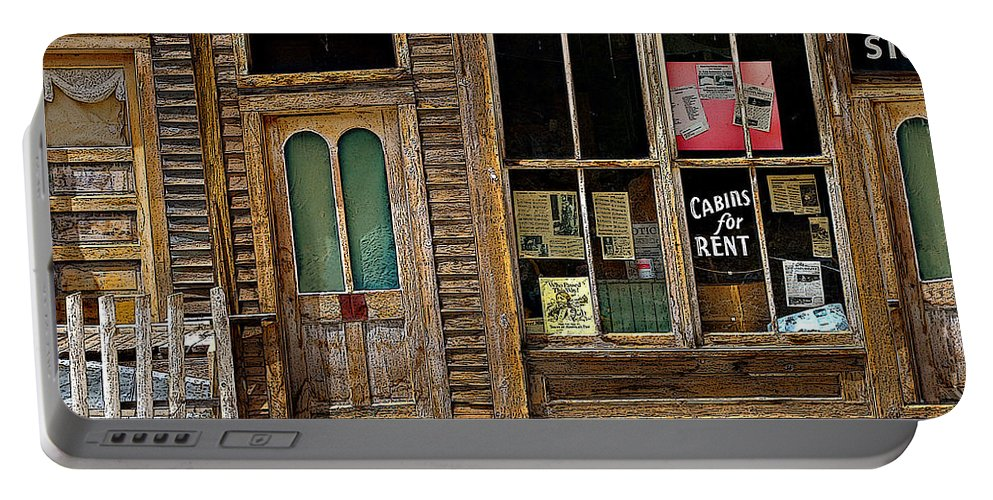 Colorado Portable Battery Charger featuring the photograph Stark Store And Hotel - Ep by Rich Walter