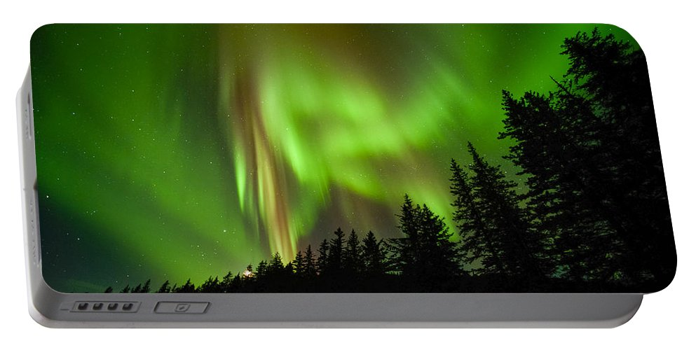 Aurora Portable Battery Charger featuring the photograph Stars And Stripes by Ted Raynor