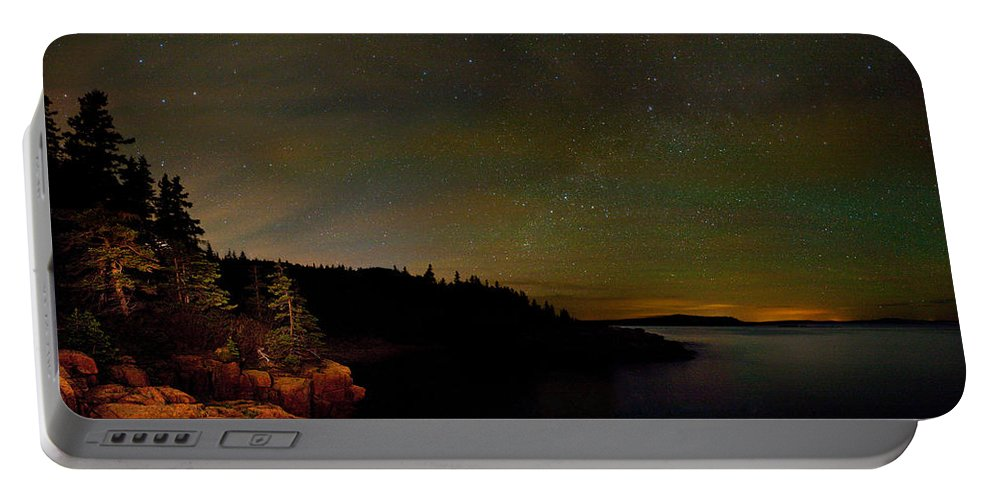 Monument Cove Portable Battery Charger featuring the photograph Stars Over Monument Cove 4186 by Brent L Ander