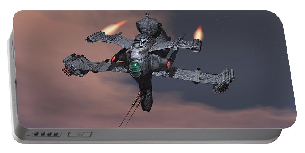 Digital Art Portable Battery Charger featuring the digital art Starseige by Michael Wimer