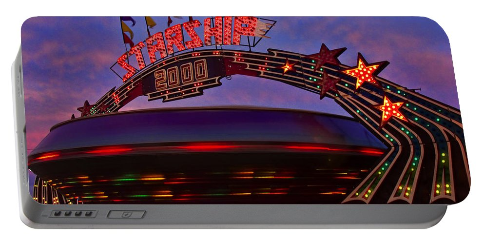 Starship Portable Battery Charger featuring the photograph Starship by Diana Powell