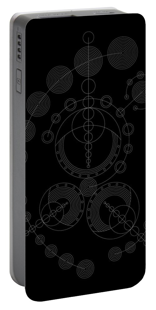 Relief Portable Battery Charger featuring the digital art Starship Inverse by DB Artist