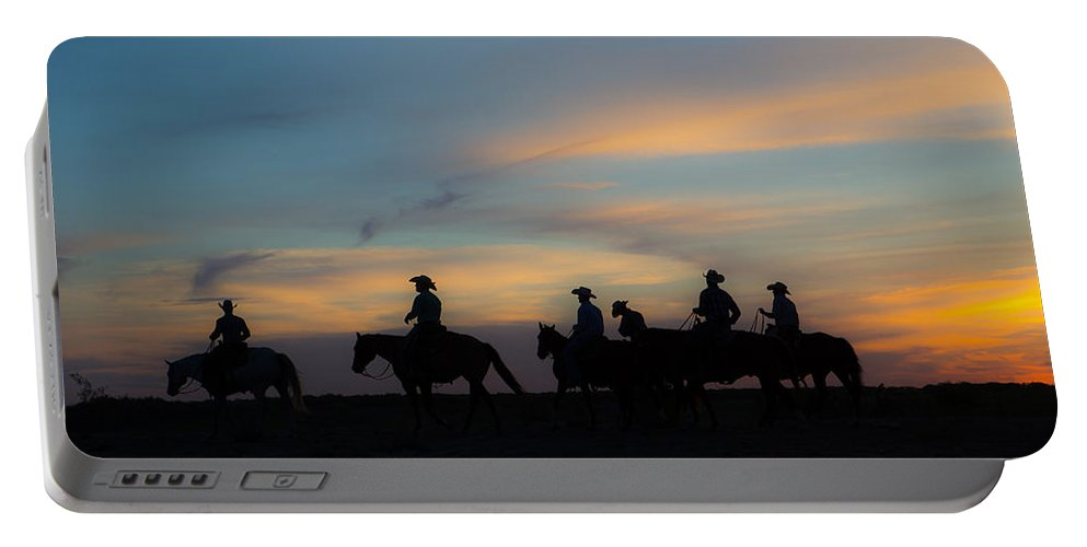 Ranch Portable Battery Charger featuring the photograph Start Of A New Day by Kelli Brown
