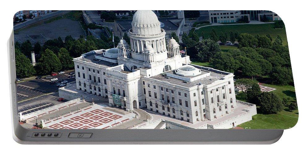 City Portable Battery Charger featuring the photograph State Capitol Buildng Providence Rhode Island by Bill Cobb