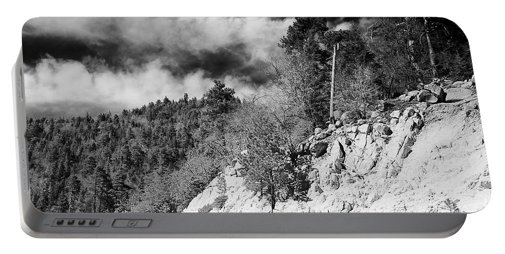April Portable Battery Charger featuring the photograph State Route 18 by Phill Doherty