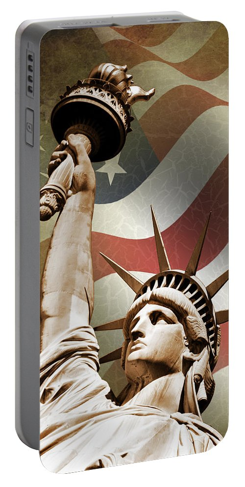 Statue Of Liberty Portable Battery Charger featuring the photograph Statue of Liberty by Mark Rogan