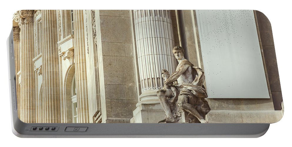 Beige Portable Battery Charger featuring the photograph Statue by Pati Photography