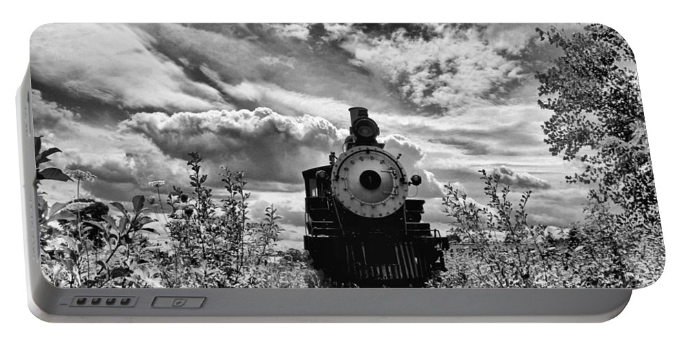 Lokomotive Portable Battery Charger featuring the photograph Steam Engine by Martin Michael Pflaum