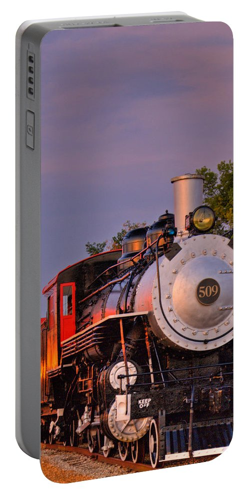 Steam Portable Battery Charger featuring the photograph Steam Engine Number 509 by Douglas Barnett