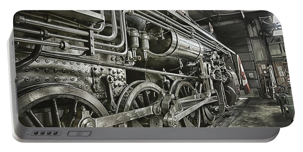Steam Portable Battery Charger featuring the photograph Steam Locomotive 2141 by Theresa Tahara