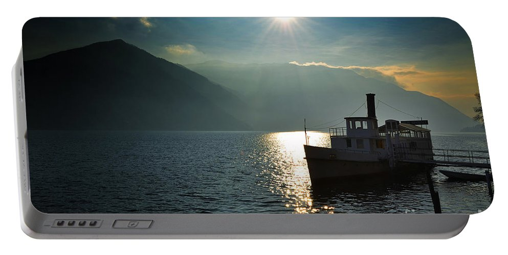 Steam Ship Portable Battery Charger featuring the photograph Steam Ship by Mats Silvan