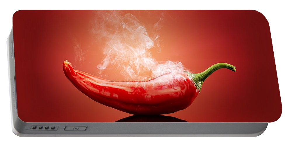 Chilli Portable Battery Charger featuring the photograph Steaming hot Chilli by Johan Swanepoel
