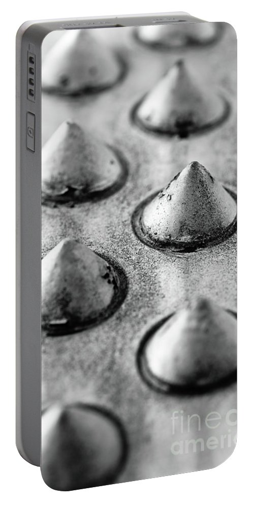 Aluminum Portable Battery Charger featuring the photograph Steel Kisses by Charles Dobbs