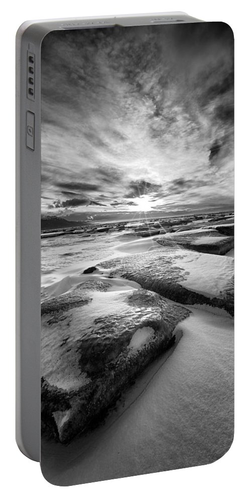 Landscape Portable Battery Charger featuring the photograph Step Stone Revisited by Ed Boudreau
