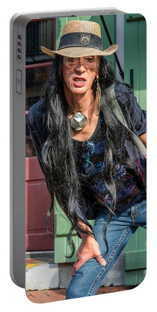 French Quarter Portable Battery Charger featuring the photograph Stephen by Steve Harrington