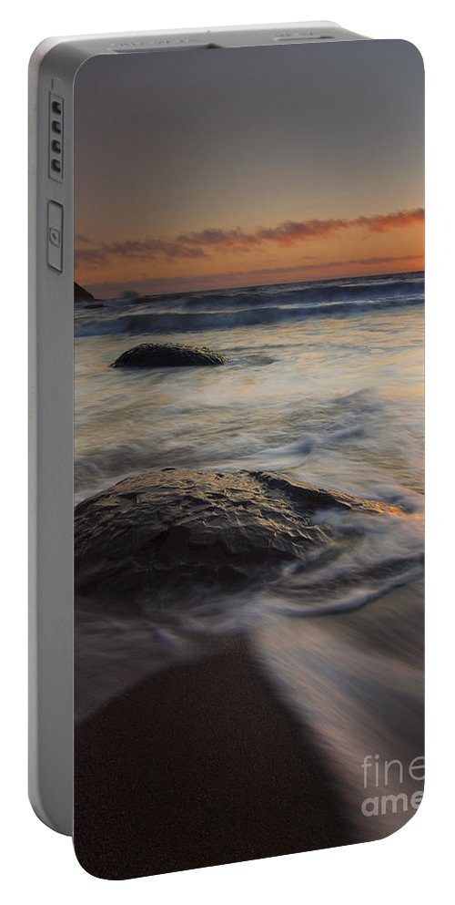 Fogarty Creek Portable Battery Charger featuring the photograph Stepping Stones by Mike Dawson
