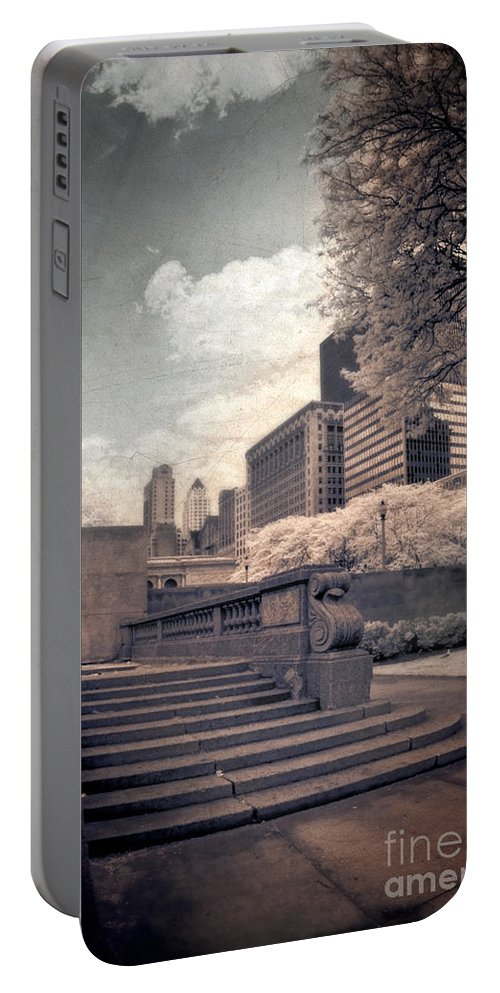 Steps Portable Battery Charger featuring the photograph Steps In A City Park by Jill Battaglia