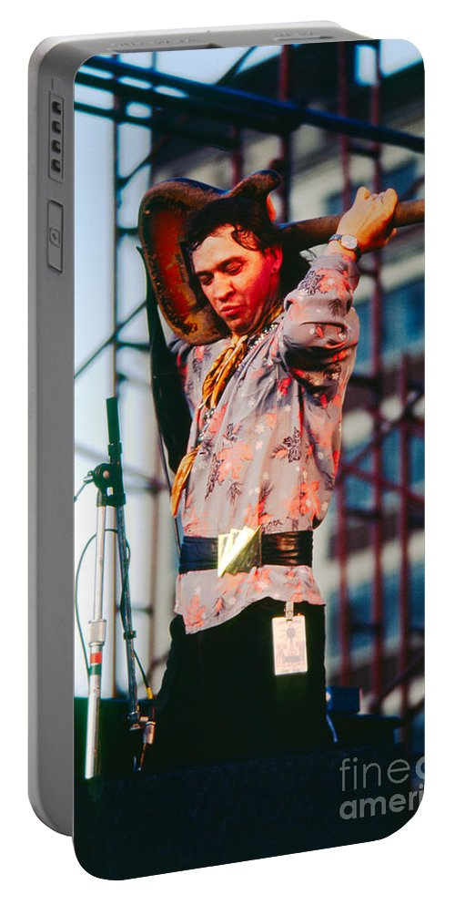 Stevie Ray Vaughn Portable Battery Charger featuring the photograph Stevie Ray Vaughn 2 by David Plastik