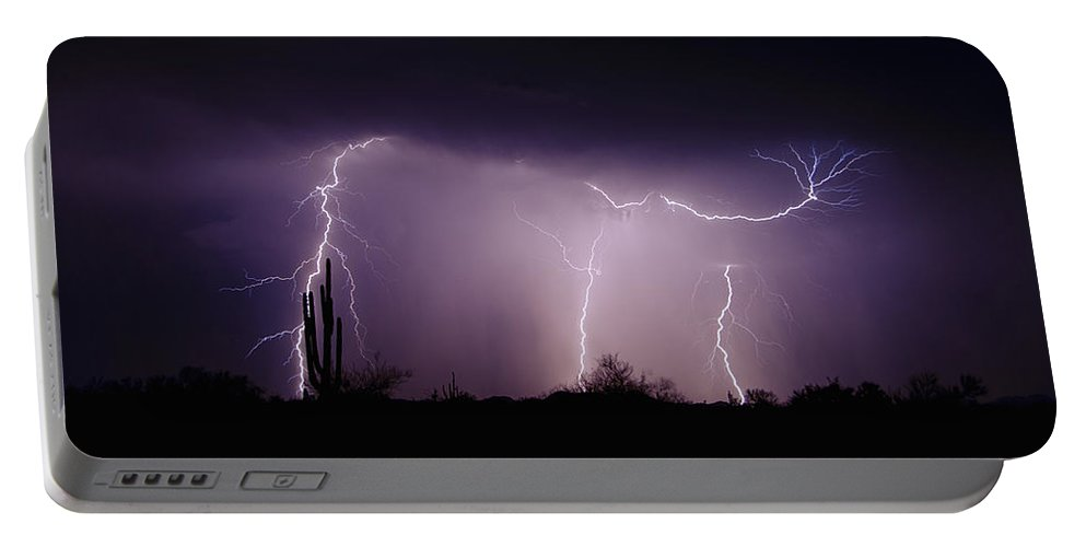 Lightning Portable Battery Charger featuring the photograph Sticky Little Fingers by Saija Lehtonen
