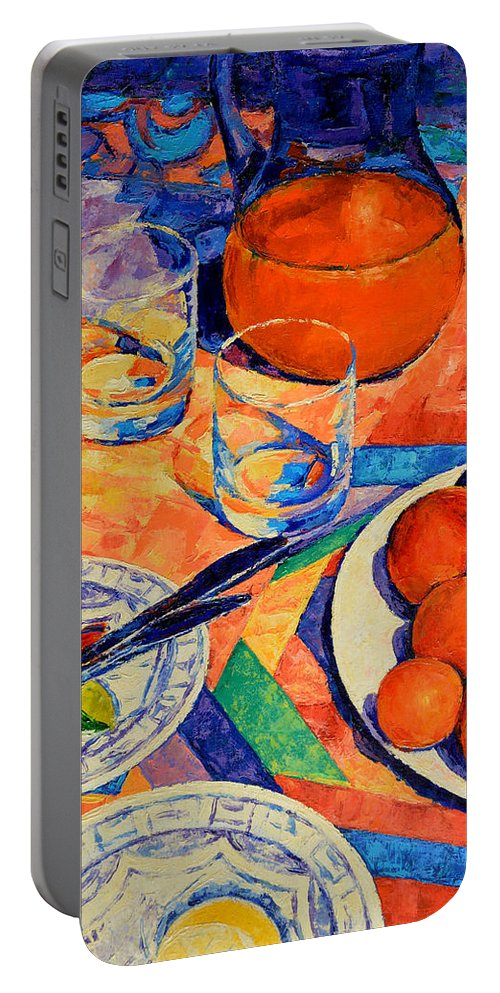 Still Life Portable Battery Charger featuring the painting Still Life 1 by Iliyan Bozhanov