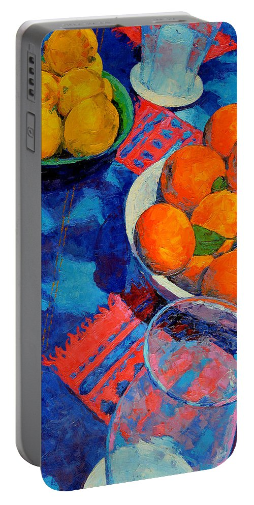 Still Life Portable Battery Charger featuring the painting Still Life 2 by Iliyan Bozhanov